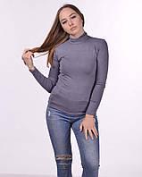 Водолазка женская гольф из микрофибры 42/48, графит