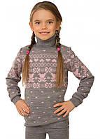 Свитер для девочки серый, фото 1