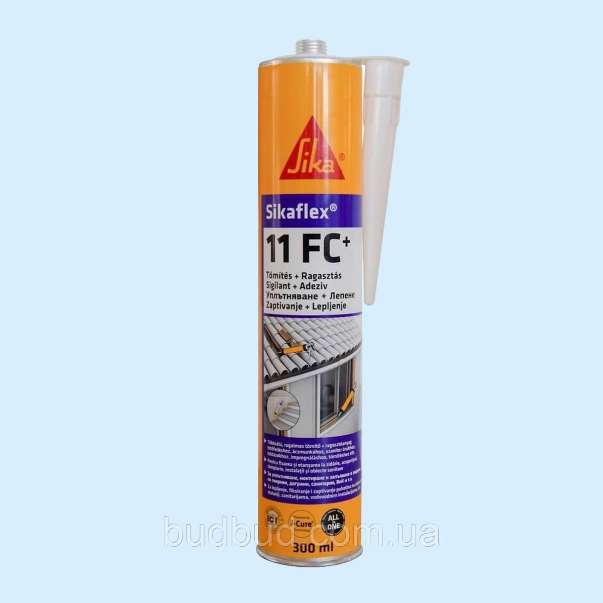 Поліуретановий клей-герметик Sikaflex 11FC + Білий 300 мл