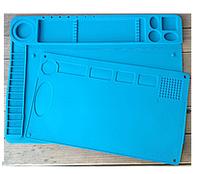 Силиконовый коврик для ремонта телефонов TE-601 24,5 x 41см (в комплекте 2 ковра) (Голубой)