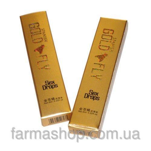 Шпанская мушка - Голд Флай / Gold Fly - женский возбудитель, (пробник - 4 стика по 5 мл)