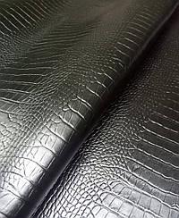 Натуральная кожа Авалон (Крейзи Хорс) черный Кайман