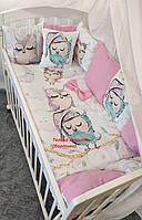 Набор защиты с 12 бортиков подушек в детскую кроватку, защитные бортики, защита