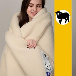 Ковдра з овечої вовни породи Меринос Hilzer 100х140 см