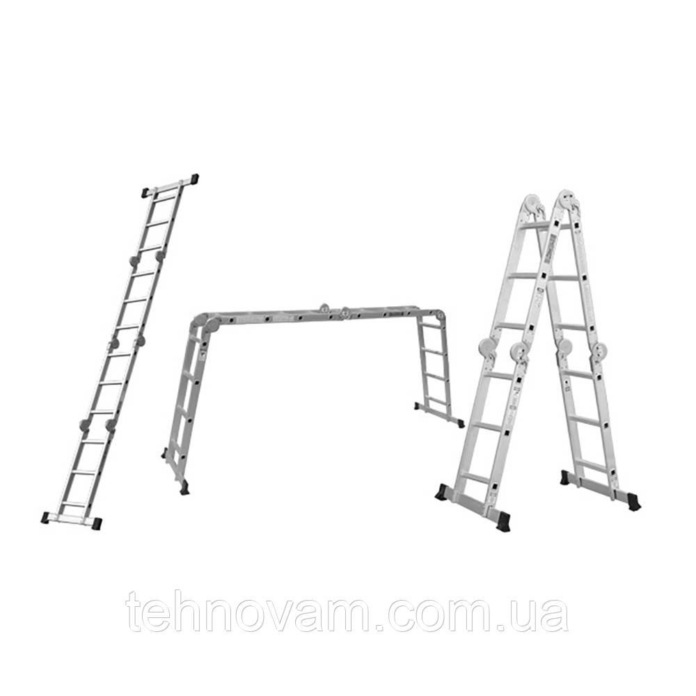 Лестница многоцелевая 4×4 (алюминиевая) FLORA (5031324)