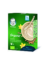 """Безмолочная каша Gerber® Organic """"Пшенично-овсяная с ванильным вкусом"""", 240г"""