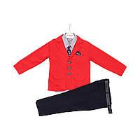 Детский костюм для мальчика тройка, брюки, рубашка, пиджак, рост 110,122,128 см ,размер 5,7,8 года. 128