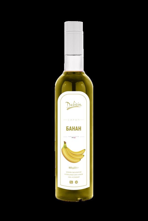 Сироп Банан Желтый Delicia 900 г