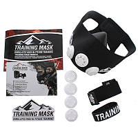 Маска тренировочная Training Mask  (3 клапана, неопрен, р-р S-L (от 100-300LBS 45-136кг), черный)