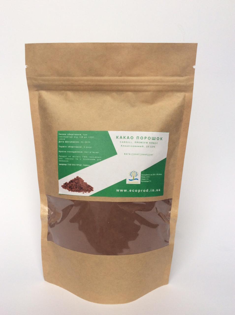 Какао порошок, 10-12% алкалізований,Cargill,DB82 - 500 гр