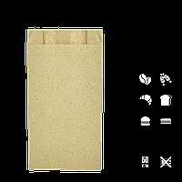 Паперовий пакет крафт бурий 270х140х40 мм, фото 1