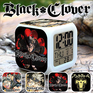 """Настольные часы Черный клевер """"Command"""" / Black Clover"""
