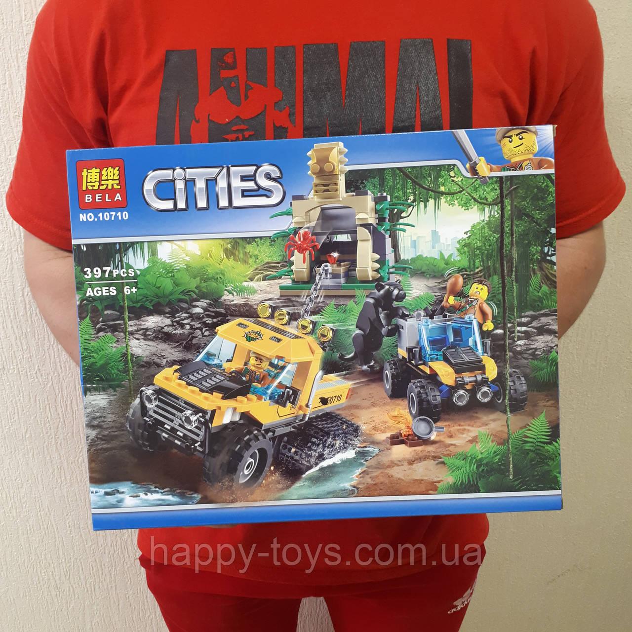 Конструктор Bela Cities 10710С Исследователи джунглей 397 деталей