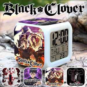 """Настольные часы Черный клевер """"Talisman"""" / Black Clover"""