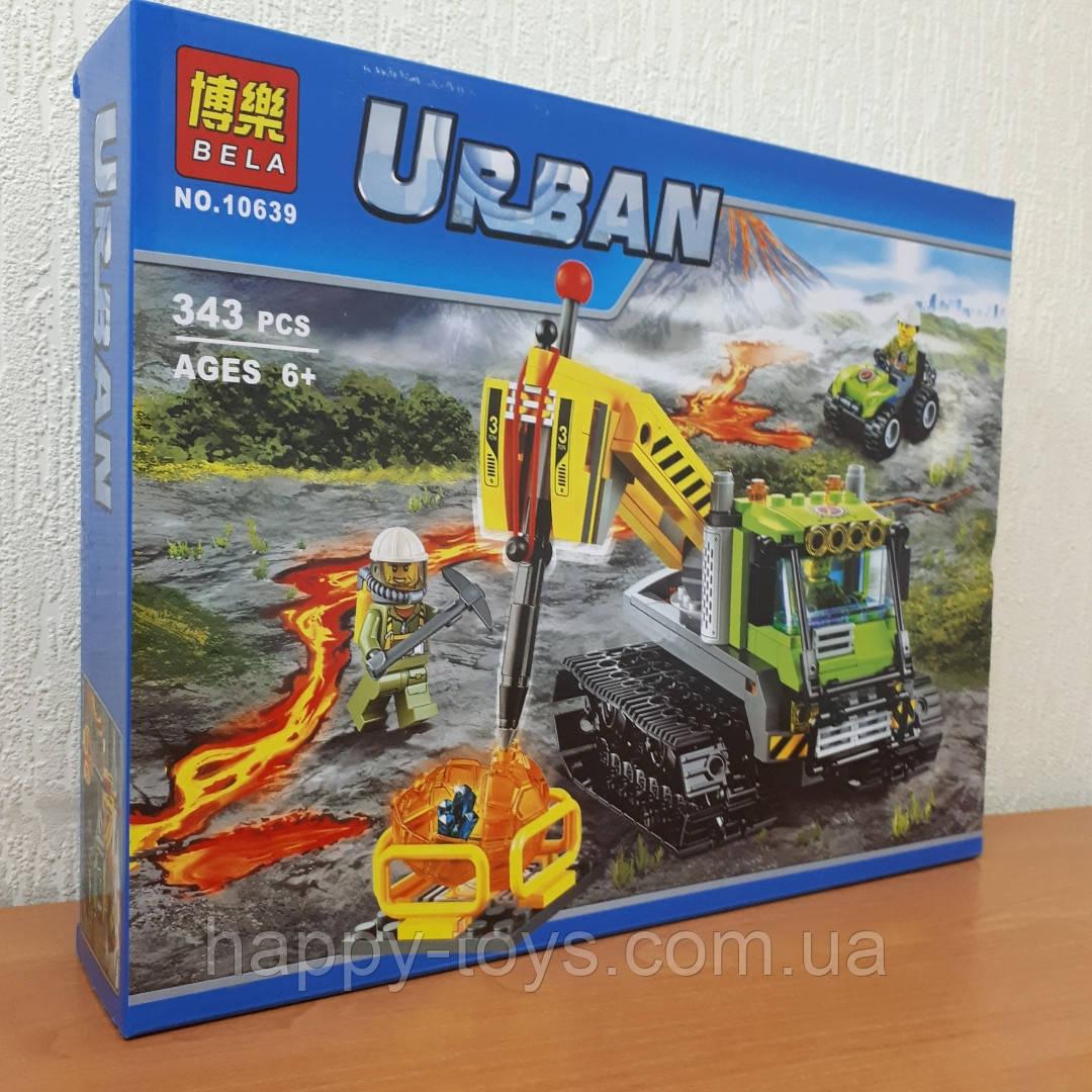 Конструктор Bela Urban 10639 Экскаватор Вездеход исследователь вулканов 342 детали