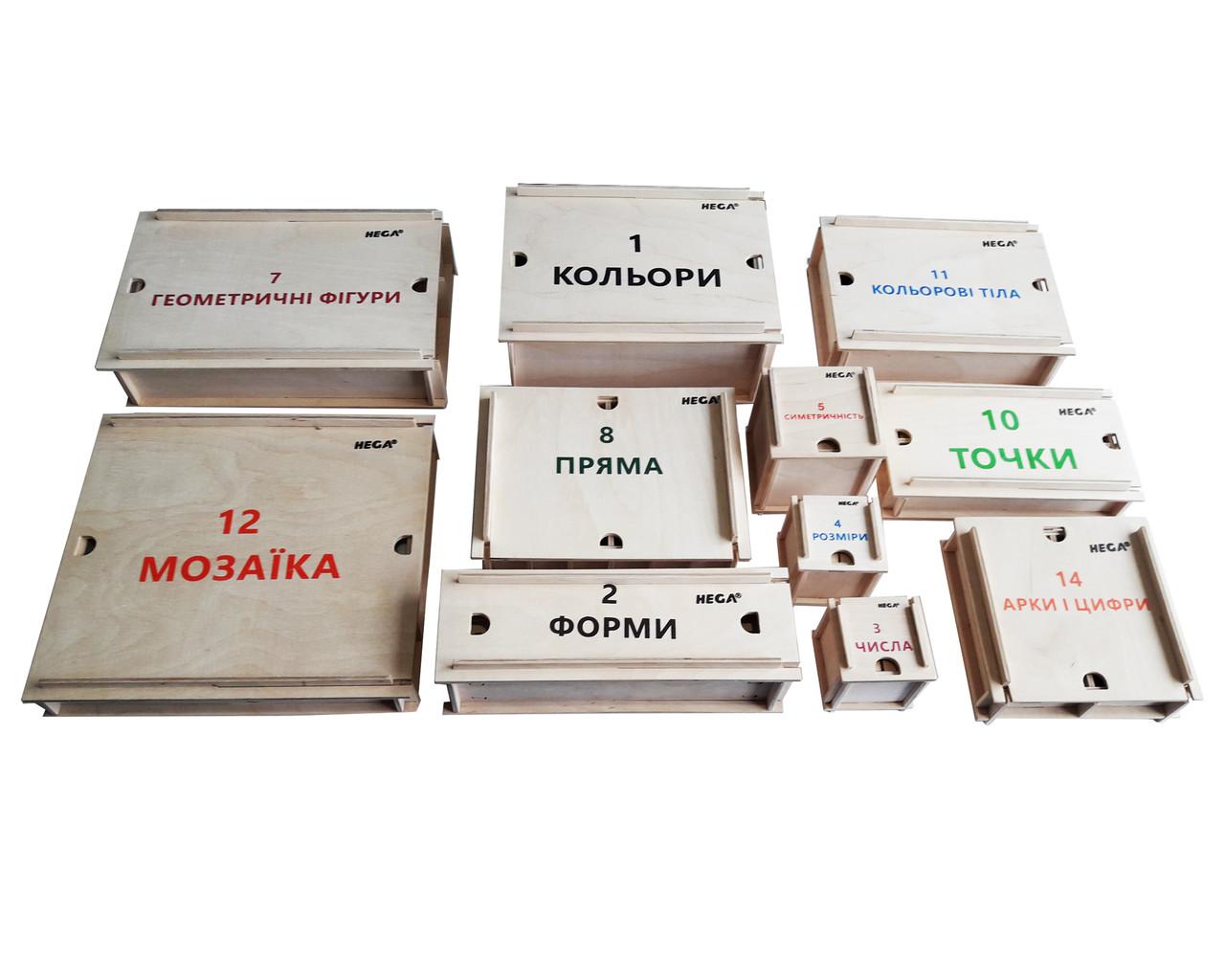Великий дидактичний набір Фребеля HEGA11 коробок