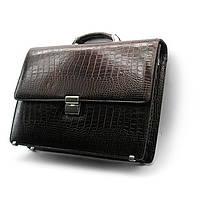 Мужской кожаный портфель Desisan 205-19 коричневая сумка для документов из натуральной кожи, фото 1