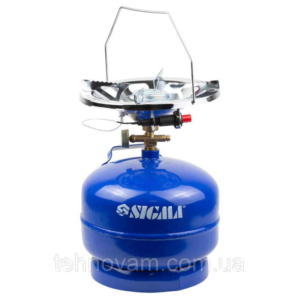 Комплект газовый кемпинг с пьезоподжигом Comfort 5л SIGMA (2903111)