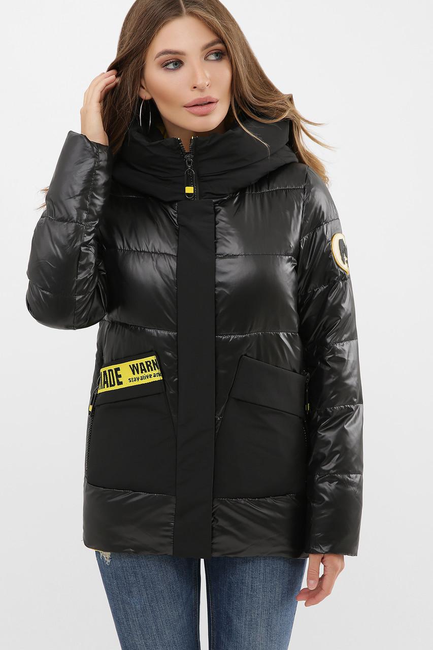 Женская теплая стильная яркая зимняя куртка пуховик с капюшоном размеры 42-50