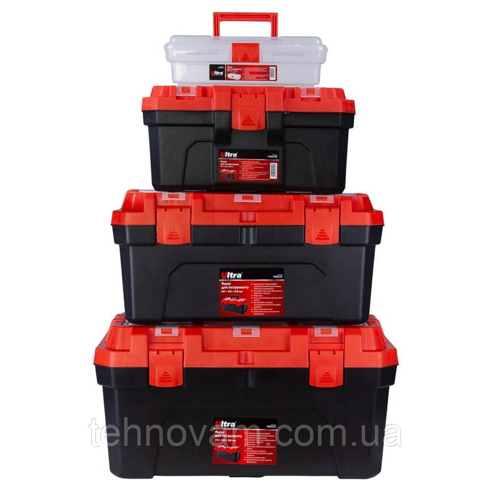 Набор ящиков для инструмента 4в1 305×150×100мм, 410×230×205мм, 507×254×259мм, 572×300×295мм ULTRA (7402082)