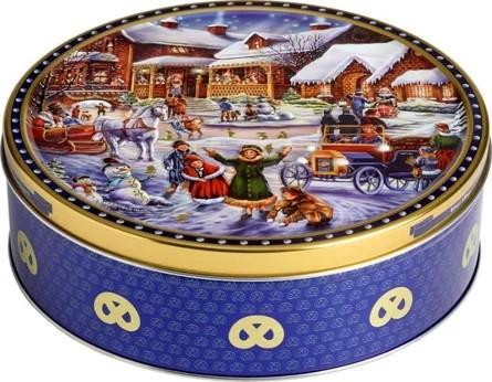 Печенье сливочное Jacobsens Winter Village в ж/б 400 г Дания