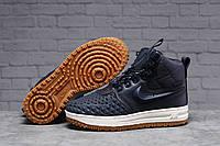 Зимние женские кроссовки 31464 ► Nike Air AF1 (мех), темно-синие . [Размеры в наличии: 38,39,40,41], фото 1