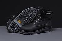 Зимние мужские ботинки 30546 ► CAT Caterpilar Anti-Glide  (мех), черные . [Размеры в наличии: ], фото 1