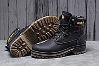 Зимние мужские ботинки 30547 ► CAT Caterpilar Anti-Glide  (мех), черные . [Размеры в наличии: ], фото 1