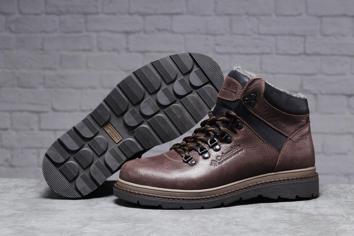 Зимние мужские ботинки 31501 ► Columbia Sportwear (мех), коричневые . [Размеры в наличии: ]