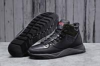 Зимние мужские ботинки 31623 ► Levi's (мех), черные . [Размеры в наличии: ], фото 1