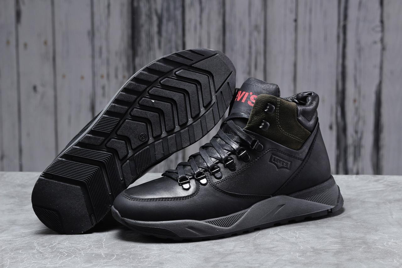 Зимние мужские ботинки 31623 ► Levi's (мех), черные . [Размеры в наличии: ]