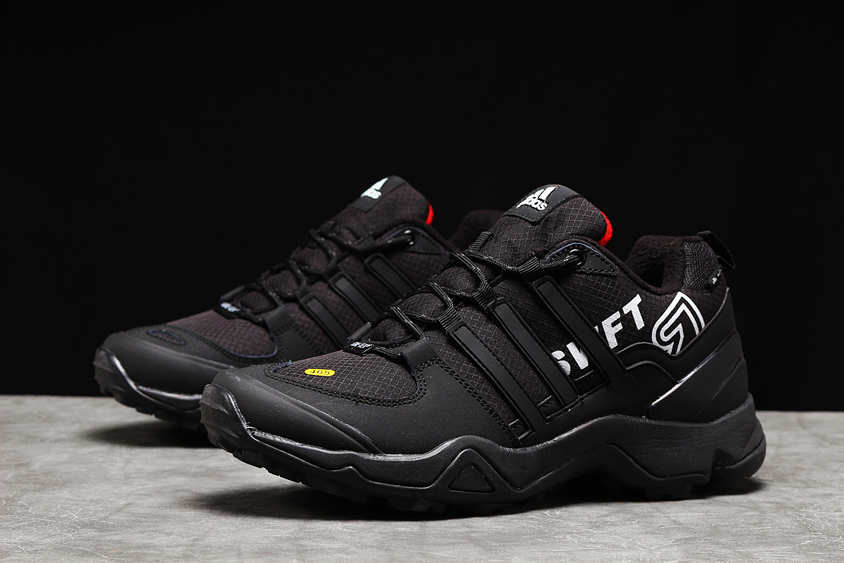 Зимние мужские кроссовки 31253 ► Adidas 465, черные . [Размеры в наличии: 45,46]