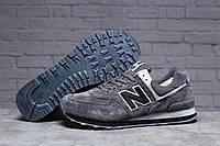 Зимние мужские кроссовки 31392 ► New Balance  574 (мех), темно-серые . [Размеры в наличии: 43,46], фото 1