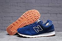 Зимние мужские кроссовки 31393 ► New Balance  574 (мех), темно-синие . [Размеры в наличии: ], фото 1