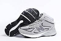 Зимние мужские кроссовки 31441 ► New Balance  990 (мех), серые . [Размеры в наличии: ], фото 1