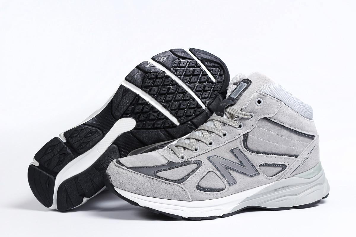 Зимние мужские кроссовки 31441 ► New Balance  990 (мех), серые . [Размеры в наличии: ]