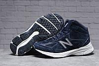 Зимние мужские кроссовки 31442 ► New Balance  990 (мех), темно-синие . [Размеры в наличии: ], фото 1