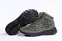 Зимние мужские кроссовки 31443 ► New Balance  990 (мех), зеленые . [Размеры в наличии: ], фото 1