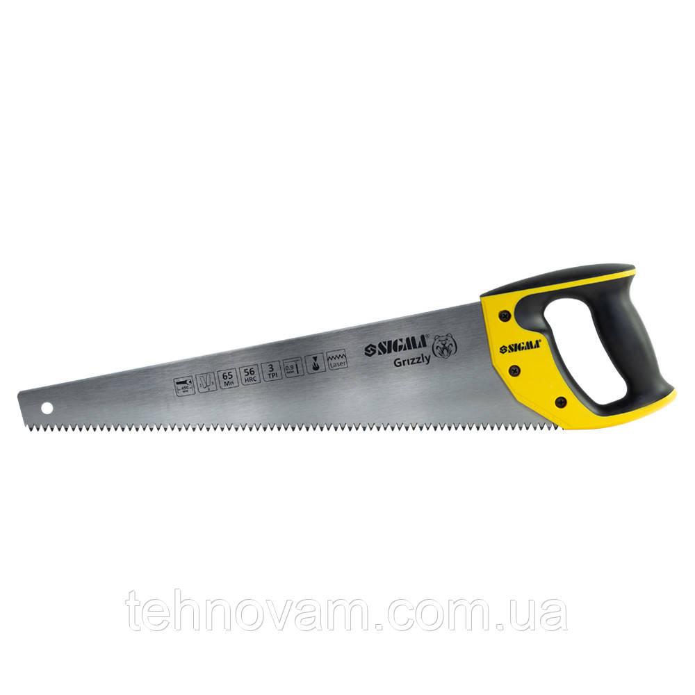Ножовка по дереву 450мм 3TPI Grizzly SIGMA (4400821)