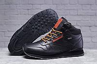 Зимние мужские кроссовки 31482 ► Reebok Classic (мех), черные . [Размеры в наличии: ], фото 1