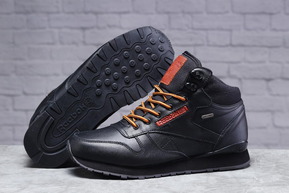 Зимние мужские кроссовки 31482 ► Reebok Classic (мех), черные . [Размеры в наличии: ]