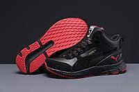 Зимние мужские кроссовки 31532 ► Puma (мех), черные . [Размеры в наличии: ], фото 1