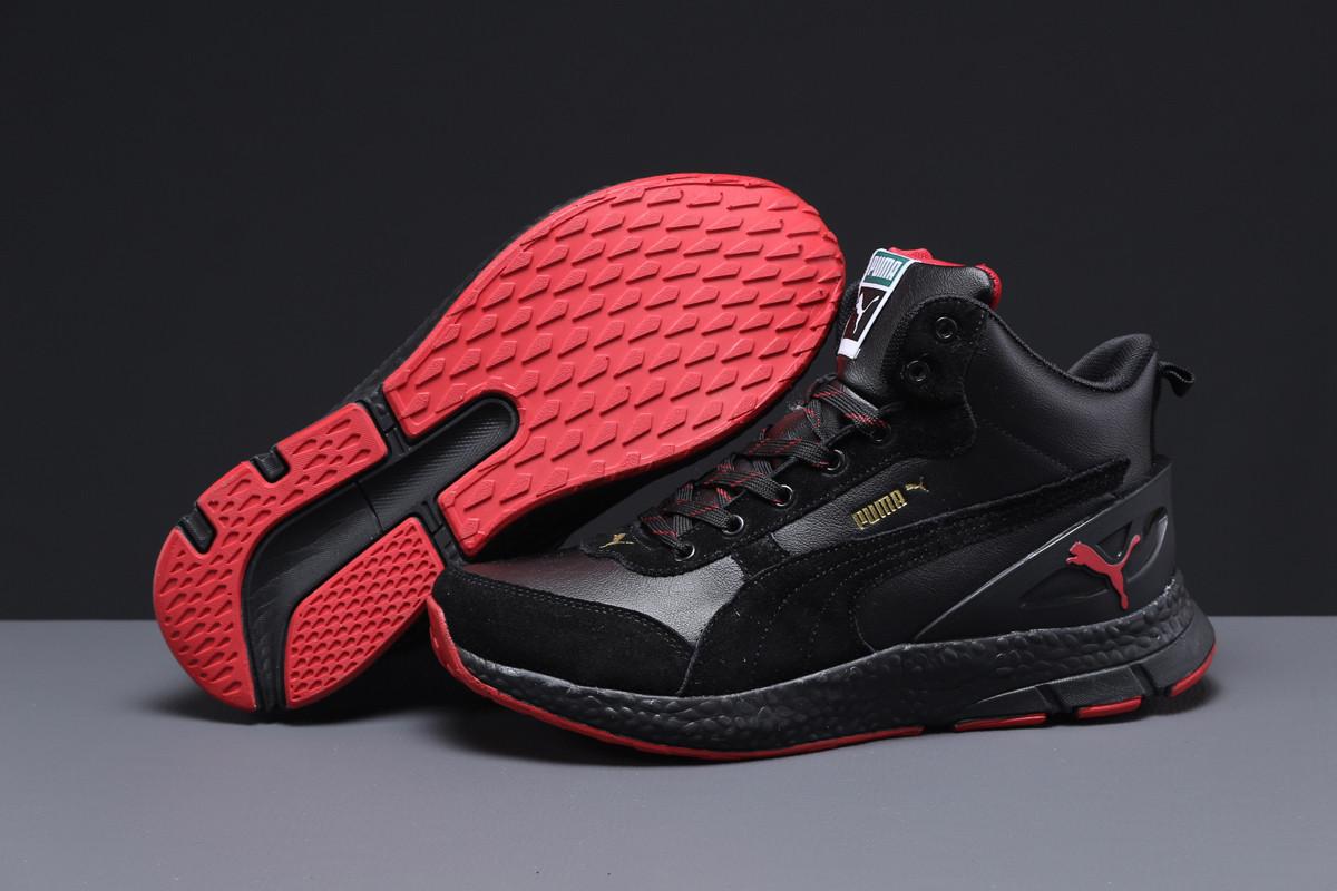 Зимние мужские кроссовки 31532 ► Puma (мех), черные . [Размеры в наличии: ]