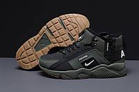 Зимние мужские кроссовки 31541 ► Nike Arcnm (мех), зеленые . [Размеры в наличии: 41,44,46], фото 1