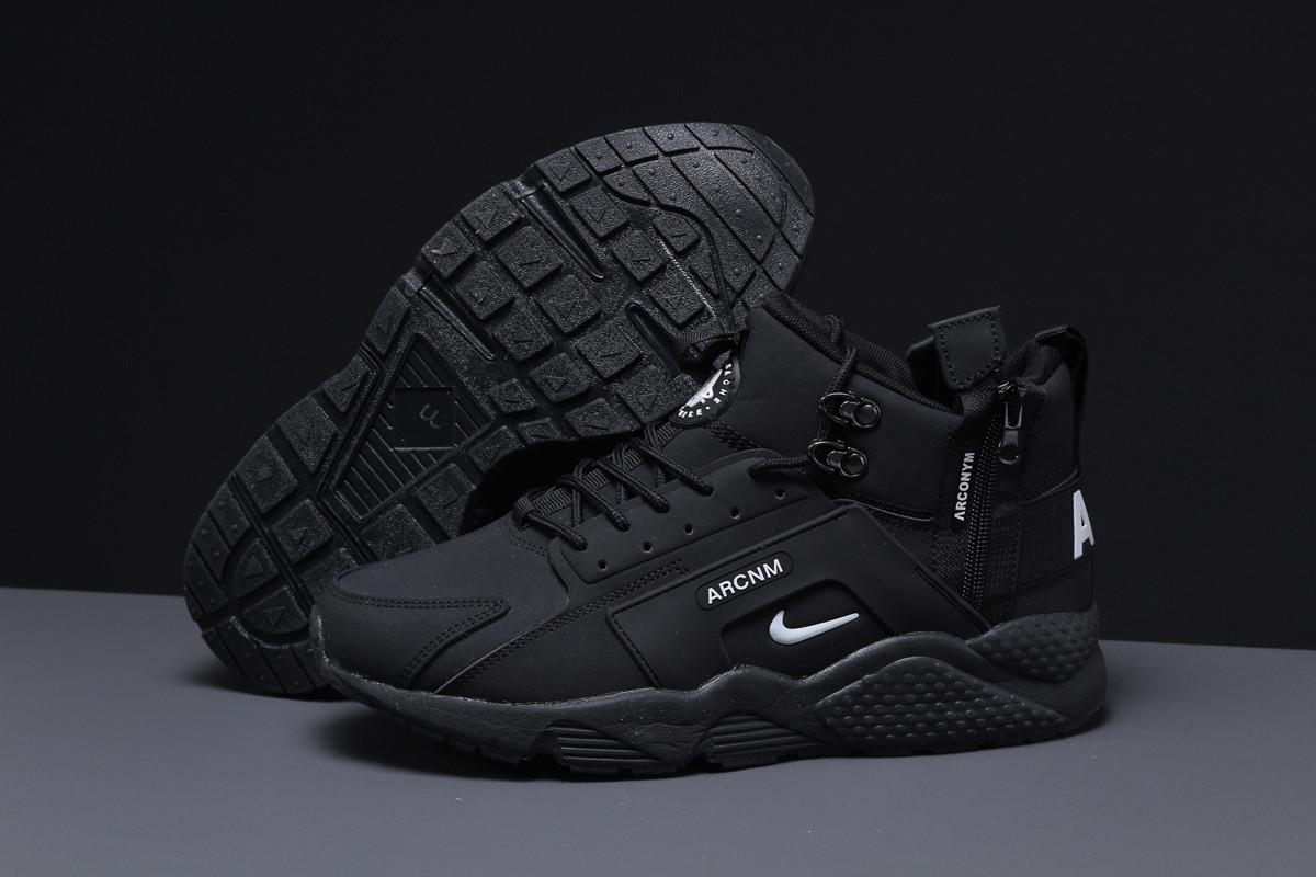 Зимние мужские кроссовки 31542 ► Nike Arcnm (мех), черные . [Размеры в наличии: 41,44,46]