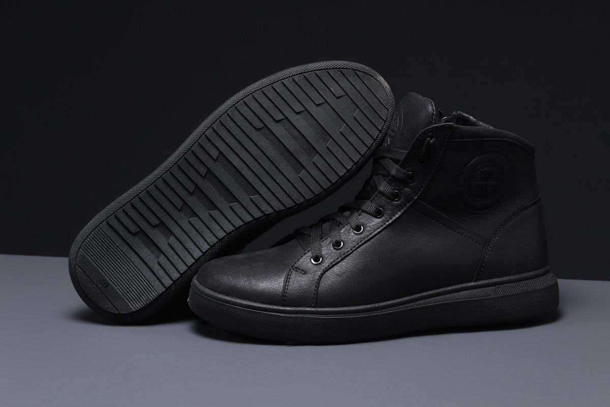 Зимние мужские кроссовки 31591 ► SSS Shoes Underground (мех), черные . [Размеры в наличии: 42]