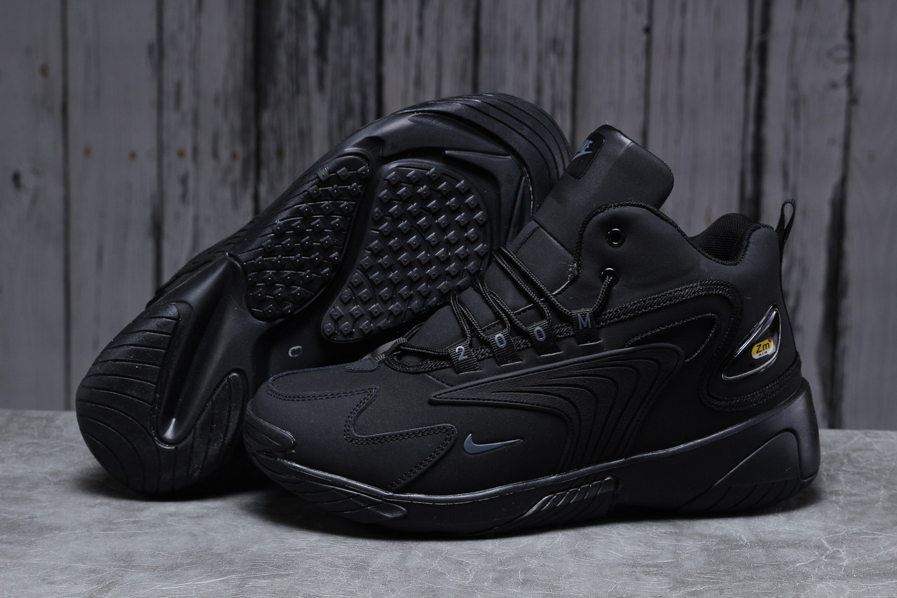 Зимние мужские кроссовки 31641 ► Nike Zm Air, черные . [Размеры в наличии: 41,42,43,44,45,46]