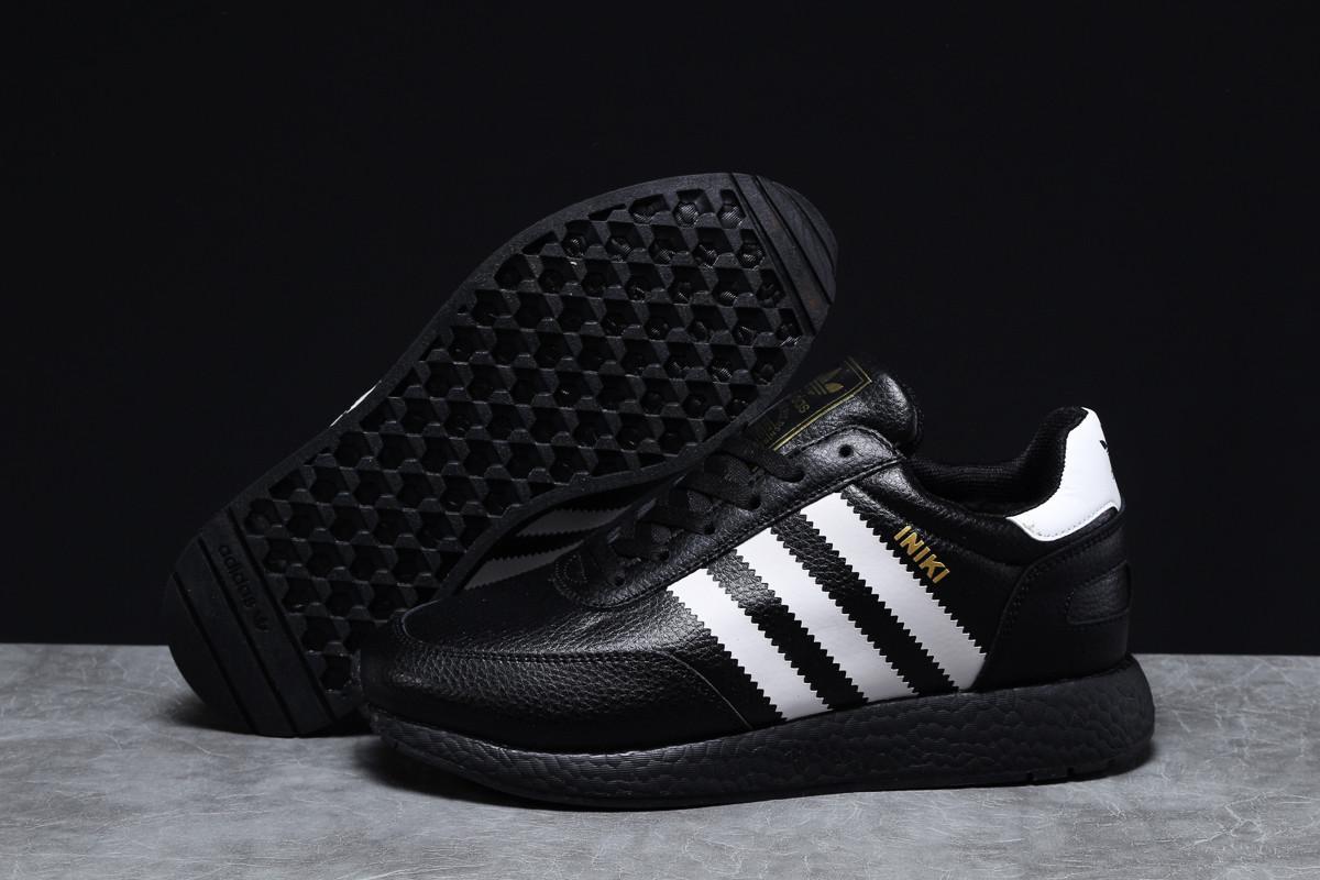 Зимние мужские кроссовки 31661 ► Adidas Iniki, черные . [Размеры в наличии: 46]