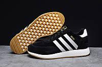Зимние мужские кроссовки 31662 ► Adidas Iniki, черные . [Размеры в наличии: 41,42,43,44,45,46], фото 1