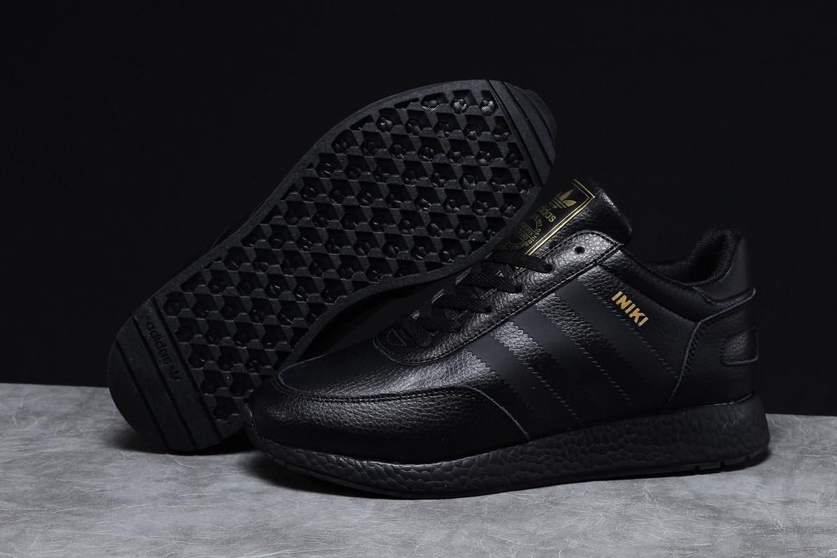 Зимние мужские кроссовки 31664 ► Adidas Iniki, черные . [Размеры в наличии: 45]